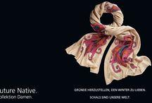 """Future Native Damen 2014 / FUTUR NATIVE. Folkloristisch. Ethnisch. Ornamentell. Inspiriert durch das rustikale Flair Tibets lädt Future Native dazu ein, sämtliche Facetten des """"Dachs der Wetl"""" zu erkunden - von handwerklicher Wandteppich-Kunst bis hin zu folkloristischer Blumen- und Ikat-Szenerie."""