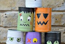 halloween tin can monsters