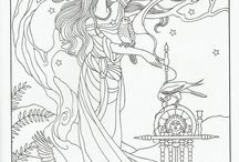 Colouring pages - Goddesses