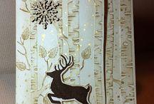 stampin up woodland embossing folder