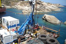 Costa Concordia Werck Removal 2012 [parbuckling] / For soil investigations, RCT used an SM-20 drilling rig, whereas for anchors Trevi used an SM-21 drilling rig. Both machines were supplied by #Soilmec