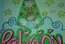 cuaderno de religion
