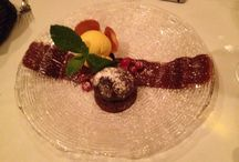 Dessert! / Chocolate and hazelnut fondant with cranberries and vanilla ice cream! Franco's London