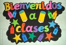decoración salón de clases