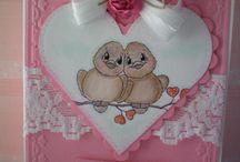 DIY - kaarten - valentijnsdag