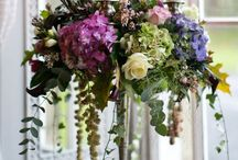 Канделябр с цветами