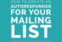Grow Your Email Subscriber List / Get ready to grow your newsletter email list with these great tips and tutorials