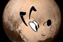 Pluto hanging out with Pluto