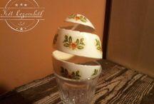 Két kezemből - Húsvéti tojások 2015 / 2015-ben készítettem ezeket a csipkézett, kézzel festett és karcolt tojásokat