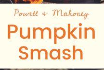 Autumn Drinking / Falling leaves & pumpkins & autumn cocktails