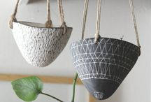 Ceramic Planters and Hanging Love