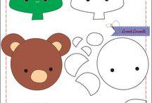 moldes de animales y muñecas