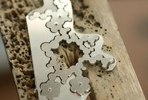 Silversmithing & Jewellery Studio / Works in progress, tools and processes.