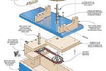 drill press sharpening station
