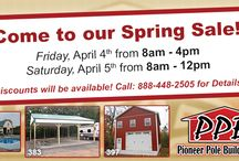 Spring Sale - 2014 / Events/Sales/Specials for Pioneer Pole Buildings.