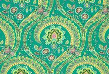 Fabric Awesomeness / Its funny...I don't sew (though I would LOVE to learn), but I can't help but drool over some of the amazing, fantastic and brilliant colors, designs and their arrangements on the fabrics out there. My craft mind and my love of eye candy go berserk! / by Laura Osburne