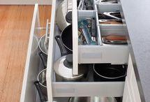 Kitchen Storage / Drawers with pots