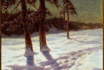 La neve nei dipinti