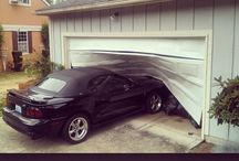 Ugly and Broken Garages / We are combing the web for the best of the worst garages :) / by Alan Conkling Garage Door Repair Services