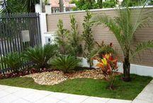 jardín con diseño