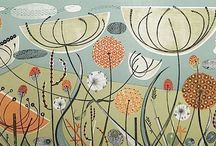 Angie Lewin and other artists / art, mostly from nature