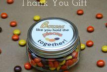 Staff appreciation gifts / Work gift ideas