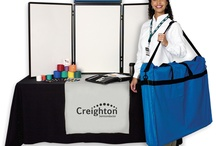 Trade Show Items / Trade shows are your company's time to shine! Put your proverbial best foot forward with a sharp looking imprinted table throws and tabletop displays! / by Crestline Promos