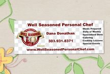Check out what Well Seasoned Personal Chef can do for you / Well Seasoned Personal Chef is ready to shop, cook, clean up and leave your freshly prepared meals, daily or weekly.  I will also deliver to your home or office, no extra charge!! Chef Dana also Cater's Special Events and provides Cooking Lessons for all ages.