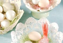 Spring Blooms & Colored Eggs / Home Decor for Spring & Easter - Love all the Flowers & Pastel Colors