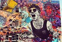 Graffiti street art by UTI crew