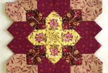 """Quilting;  Paper piecing  - Lucy  Boston's / Okay,  so I am probably going to be tempted. It's all about seeing the potential in the fabrics!!  Love the combinations!  Endless, but """"what size to do?"""""""