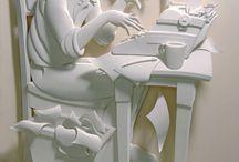 Sculpturi din hârtie / Sculptor, JEFF NISHINAKA ( Los Angeles, SUA )