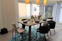 Esszimmer Ideen | KAMPA / Der Mittelpunkt der Familie - der Essbereich. Wie dieser in den Wohnraum integriert werden kann zeigt KAMPA am Beispiel seiner Fertighäuser.