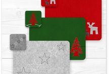 Filz-Tischsets | Weihnachtsgeschenk / Weihnachtsgeschenke aus Filz. Großes Auswahl, große Vielfalt: Taschen, Platzsets, Weihnachtsbauanhänger u.v.m.