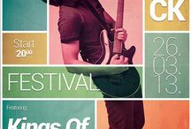 Concert posters / Festivals posters, music concerts poster, gig posters, live acts poster