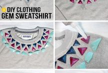 DIY gem sweatshirt