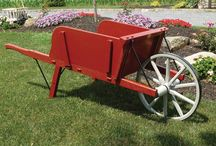 Amish Made Wheelbarrows & Wagons / Great for outdoor #weddings or to add to your #fall decor scheme, we are loving these handcrafted wheelbarrows & wagons that welcome country charm to your backyard.