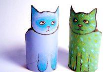JongNL creatief - wcrolletjes / Creatief met kosteloos materiaal dat snel verzameld is op de blokhut of bij de kinderen thuis.