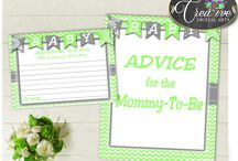 Baby Shower Games In Chevron Green Baby, Invitations, Decorations and more... / Hi, thank you for visiting this beautiful baby shower board with chevron green baby theme. Here you can find a lot of baby shower decorations and activities with over 40 listings in this theme.