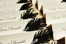 Place cards, invitations