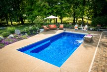 Pool Patio Ideas / Check out the patio furniture and colors of these beautiful pool decks.