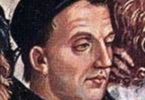 Фра Беато Анжелико. / Работа с крупными формами началась с росписи алтарей в 1428 — 1433 году в монастыре Сан Марко (Флоренция). В 1445 году Анджелико вызвал в Рим папа Евгений IV расписывать фрески ныне несуществующей церкви Крещения в Ватикане. В 1447 году со своим учеником Беноццо Гоццоли расписывал фрески церкви в Орвието, а в 1447—1450 годах — стены капеллы Никколина во дворце пап в Ватикане. Фра Анджелико вернулся во Флоренцию в 1449 году. В 1450 году он стал настоятелем монастыря Сан-Доменико во Фьезоле.