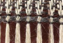 Tie/knot fringe finish