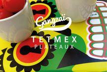 MUGS & PLATEAUX TETMEX / Les mugs et plateaux TETMEX sont Inspirés par les calaveras – têtes de mort mexicaines The TETMEX mugs and trays are inspired by cavaleras – Mexican skulls.