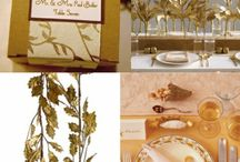 Adorable Golden Table Decoration For Thanksgiving