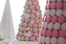 Pièce Montée de Macarons & Croquembouche / Looking for an alternative to the traditional American wedding cake? Take a bite out of the classically French Pièce Montée de Macarons & Croquembouche!