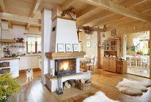 Domy z drewna wnętrza