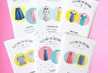 Sewing Patterns from The Fabric Fox / We have handpicked a range of modern sewing patterns for dressmaking and patchwork.  http://thefabricfox.co.uk/kits-patterns/