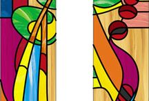 Stained Glass MacKintosh and Wright / Designs inspired by Charles Rennie Mackintosh, Frank Lloyd Wright, Prairie, Mission and Arts and Crafts  / by Sue Spire
