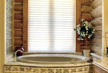 Bathroom Decorating Ideas / Decor doesn't stop at the bathroom door!  Be it a guest bath, or a luxury retreat, your decorating scheme should continue into the bath.  Visit Interiors' Bed & Bath Shoppe for inspiration!